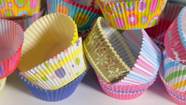 Printed cupcake papers patty pans