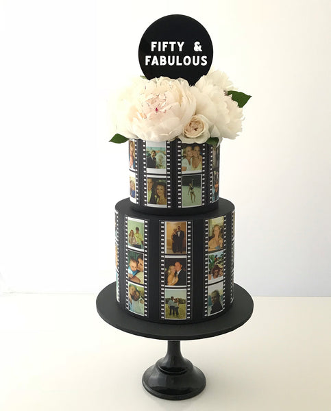 edible image film strip cake