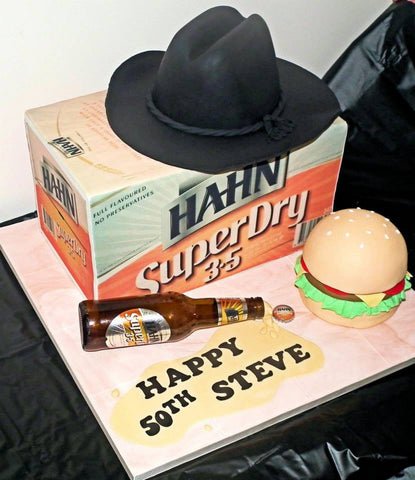 Beer carton full edible cake wrap