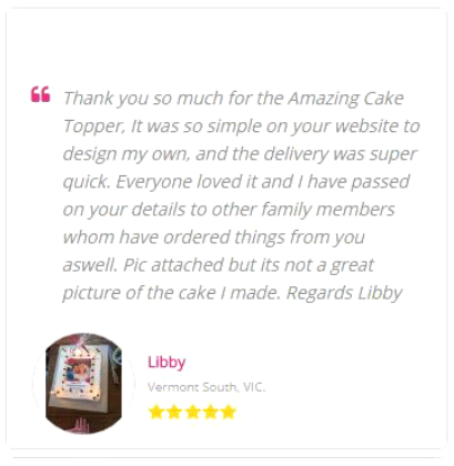 Custom Icing customer review