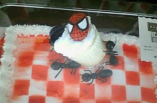 Picnic Spiderman cupcake