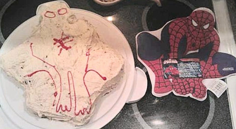 Bad spiderman cake fail