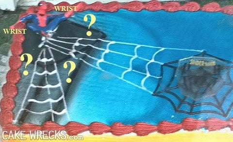 Spiderman cake fail