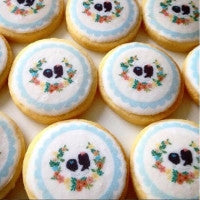 Regular Circles (20 same x 4cm diam) Custom Icing Edible Images