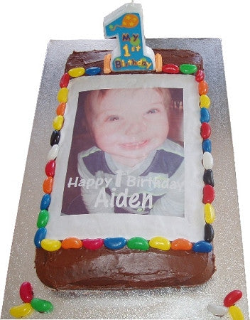 Small (A5) Rectangle Custom Icing Edible Image Cake Topper