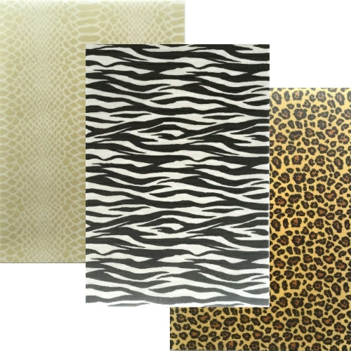 Animal Print Collection A - 3 sheets Edible Printed Wafer Paper A4