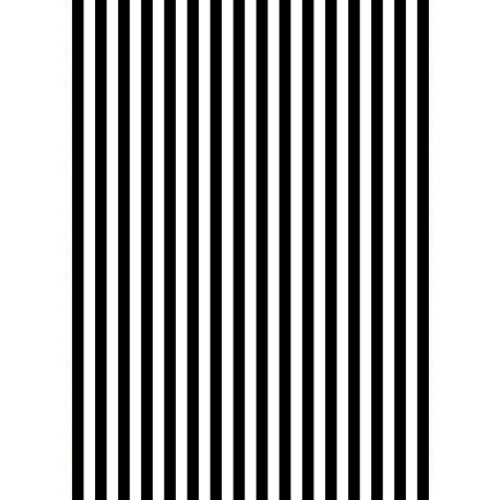Stripes - Black & White Edible Printed Wafer Paper A4