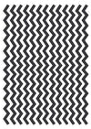 Chevron - Black & White Wafer Paper A4