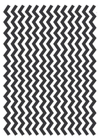 Black & White Chevron Wafer Paper A4
