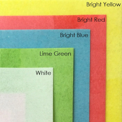 Bright Coloured Edible Wafer Paper - 5 x A4 sheets