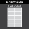 10 (9cm x 4.8cm) Business Card Icing Rectangles (Design Your Own)