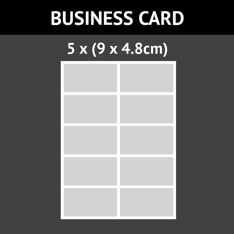 Business Card (9cm X 4.8cm) 10 Custom Icing Edible Images