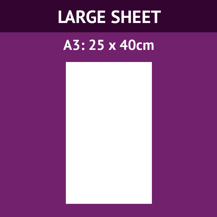 A3 (40cm x 25cm) Large Icing Sheet (Design Your Own)