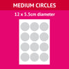 5.5cm x 12 - Medium Icing Circles (Design Your Own)