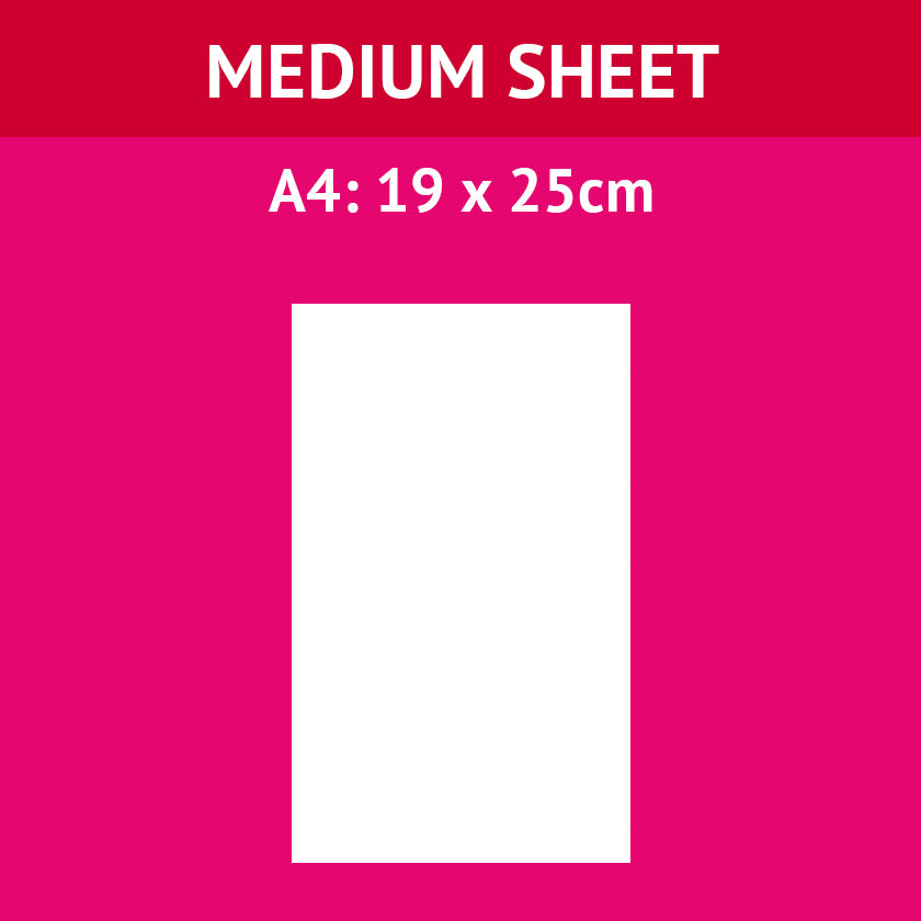 A4 (25cm x 19cm) Medium Icing Sheet (Design Your Own)