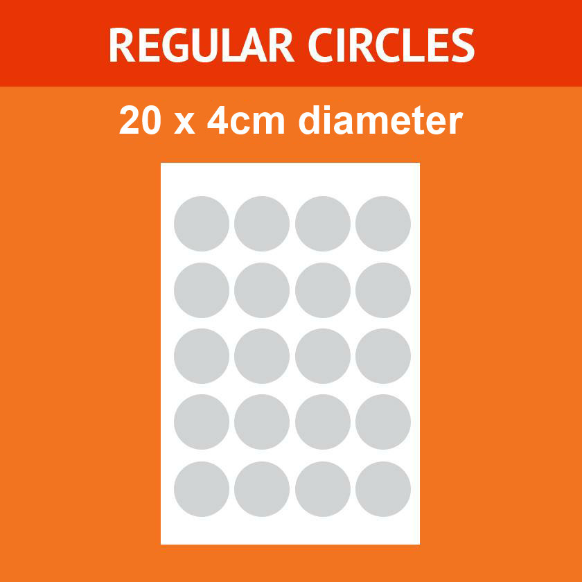 4.cm x 20 - Regular Icing Circles (Design Your Own)