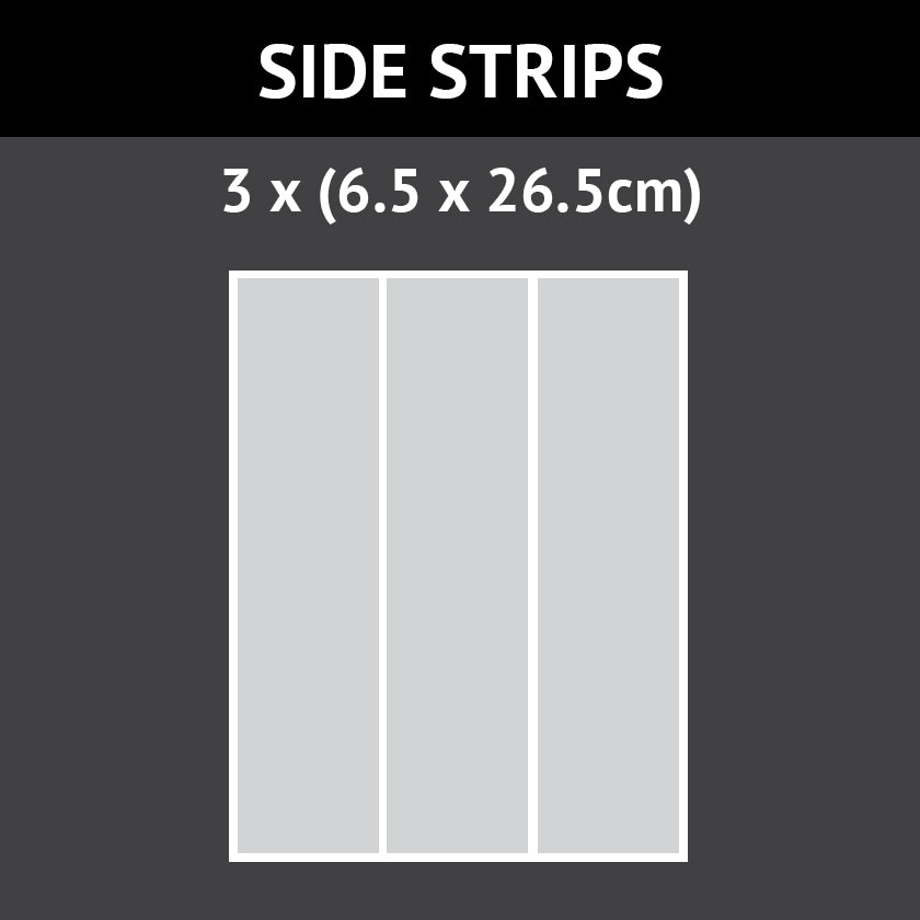 3 (6.5cm x 26.5cm) Icing Cake Side Strips (Design Your Own)