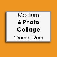 Image of A4 size - Custom Icing Collage Edible Image Cake Topper with 6 photos