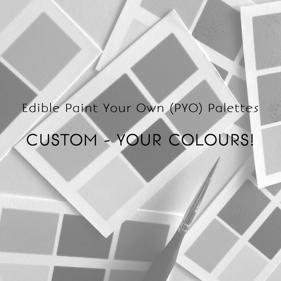 Custom Edible (PYO) Paint Palettes (10 pieces)