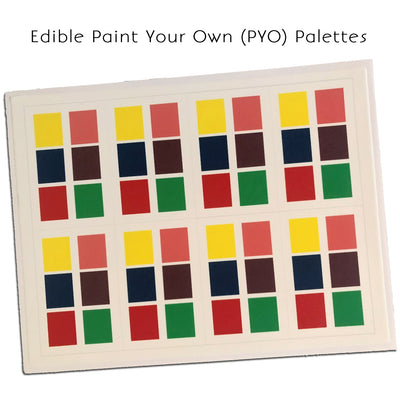 Edible PYO Paint Palette Sheets