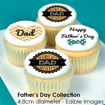 Father's Day Collection - 20 x 4.8cm diameter edible cupcake toppers