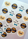 Father's Day Collection - 20 x 4cm diameter edible cupcake toppers