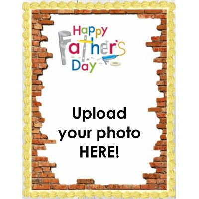 Father's Day - Add your photo! - Edible Image Cake Topper - 25cm x 19cm