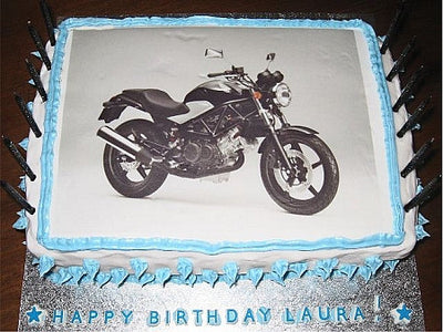 Medium (A4) Rectangle Custom Icing Edible Image Cake Topper (25cm x 19cm)