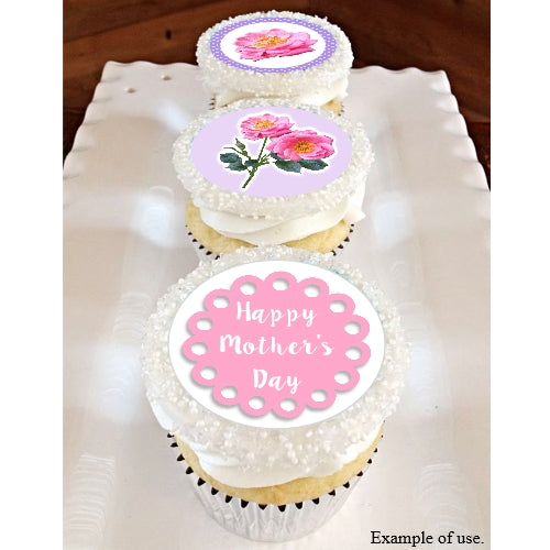 Mother's Day Collection - 20 x 4cm diameter edible cupcake toppers