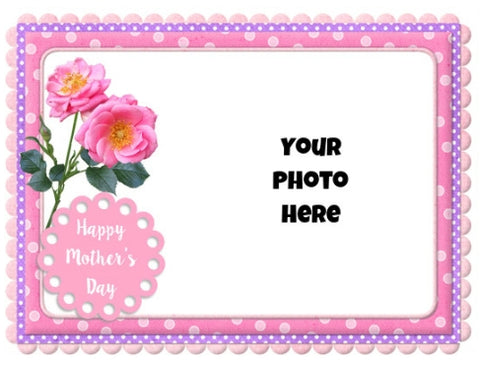 Mother's Day - Add your photo! - Edible Image Cake Topper - 25cm x 19cm
