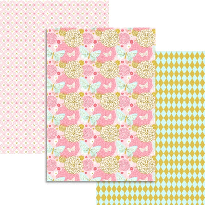 Pink Collection - 3 sheets Edible Printed Wafer Paper A4