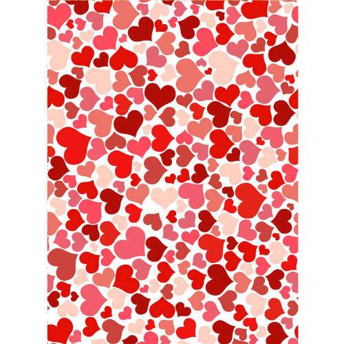 Red & Pink hearts - Edible Printed Wafer Paper A4
