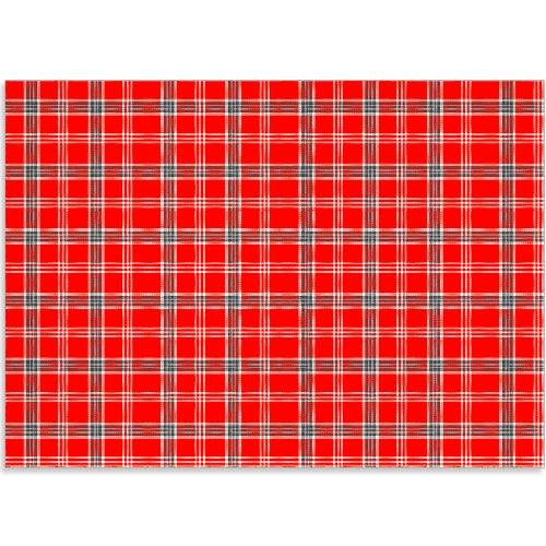Red Christmas Plaid - Edible Printed Icing Sheet A4 size