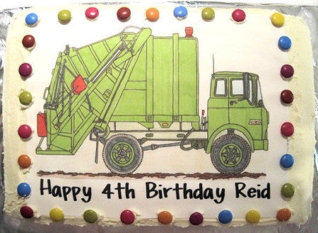 Rubbish Truck Cake Toppers