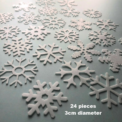 Edible Wafer Card Snowflakes - 24 pieces