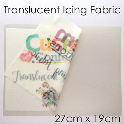 Translucent Edible Icing Fabric - 27cm x 19cm