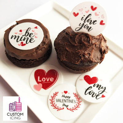 Valentine's Day Edible Wafers - 3.7cm x 35pcs