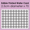 Edible Printed Wafer Card - 70 x 2.5cm cut circles