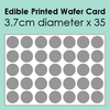 Edible Printed Wafer Card - 35 x 3.7cm cut circles