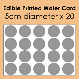 Edible Printed Wafer Card - 20 x 5cm cut circles