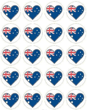 Image of Australia Day Cupcake (4.8cm) Edible Images