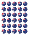 Australia Day Mini Cupcake Edible Toppers Sheet of 30