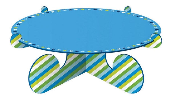 Blue Stripes & Stars Cake Stand