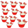 Edible printed wafer bow kit - Red & White - Makes 10