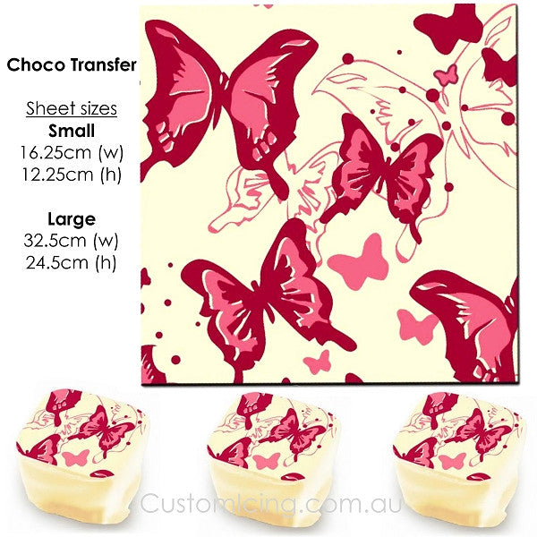 Butterflies - Choco Transfer Sheet