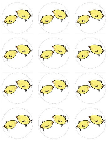 Easter Chicks Cupcake Toppers (4 sizes available)