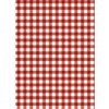 Dark Red Gingham Edible Printed Wafer Paper A4
