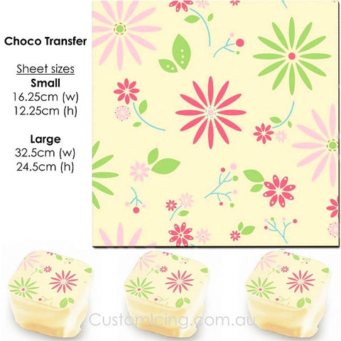 Floral - Choco Transfer Sheet
