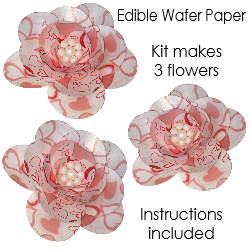Pre cut edible wafer paper flower kit red hearts x 3 customicing previous next pre cut edible wafer paper flower mightylinksfo