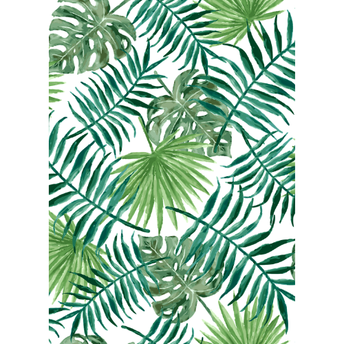 Foliage Leaves Edible Printed Wafer Paper A4